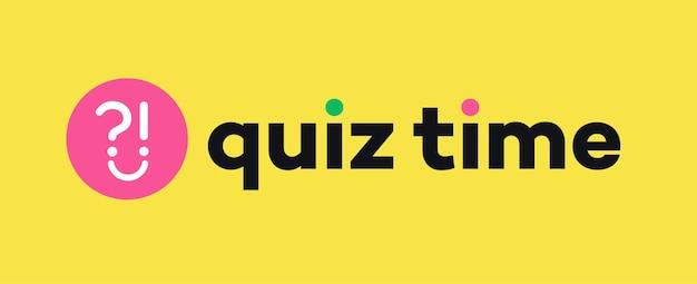 Quizvektorzeichen mit frage für die wettbewerbsprüfung smart show kids game interview quiz symbol antwort