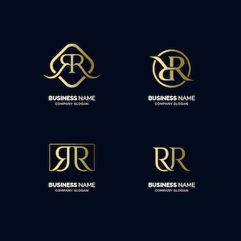 R luxus text logo set