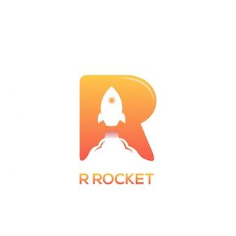 R rocket logo