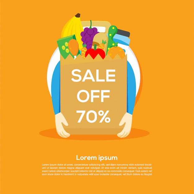 Rabatt 70% sale banner