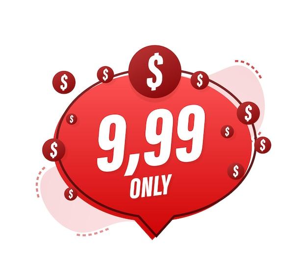 Rabatt-aufkleber-vorlage mit nur 99 vektor-vorlagendesign verkaufspreisschild verkaufsbanner-abzeichen
