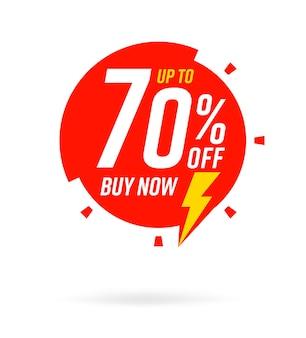 Rabatt bis zu 70 prozent auf jetzt kaufen sale-vorlage