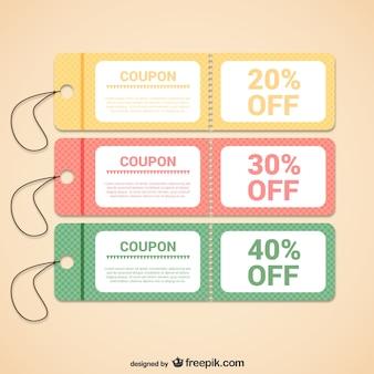 Rabatt-coupons vorlagen