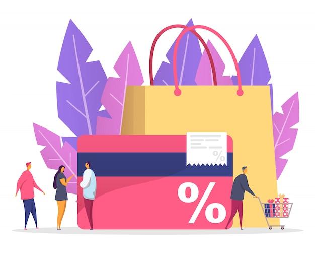Rabatt und kundenkarte konzept