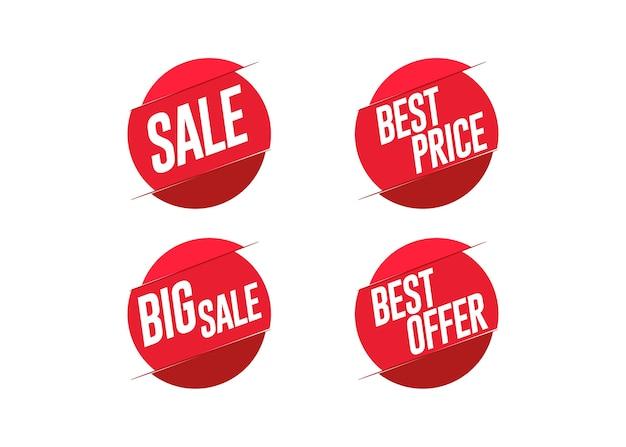 Rabattangebotspreis-aufklebersatz