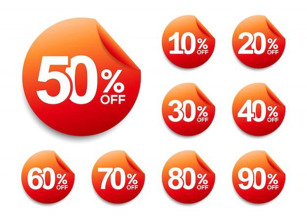 Rabattaufkleber, werbekampagne im einzelhandel, verkaufsförderungsmarketing