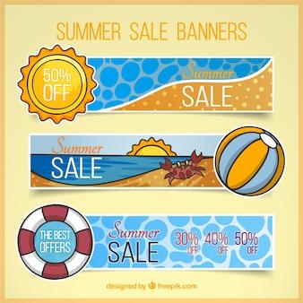 Rabatte banner sommer