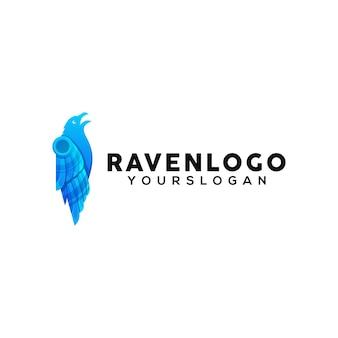 Rabe bunte logo-design-vorlage