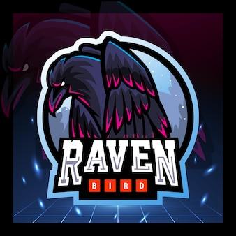 Raben-maskottchen-esport-logo-design