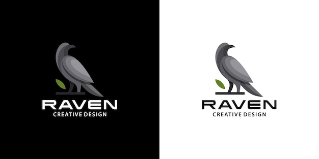 Rabenvogellogo, modern, sauber, dunkle farbe