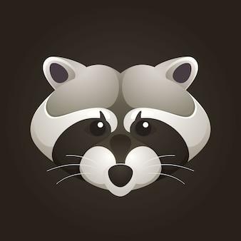 Raccoon head design template elemente für corporate identity.
