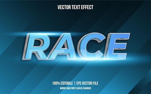 Race bearbeitbarer textstil-effekt