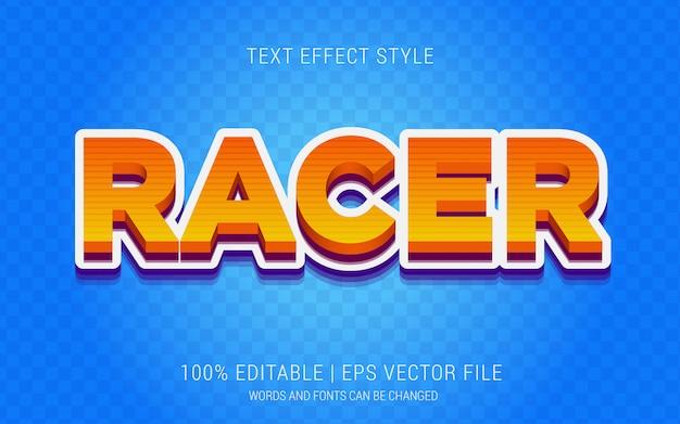 Racer text effekte stil