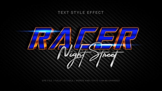 Racer text style effekt