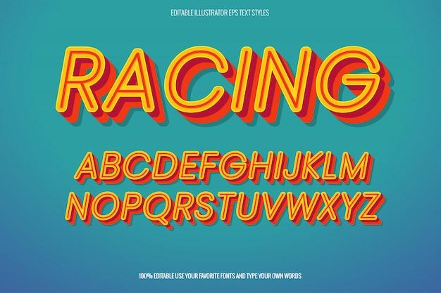 Racer-texteffekt, sofort-texteffekt