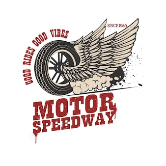 Racer winged wheel emblem