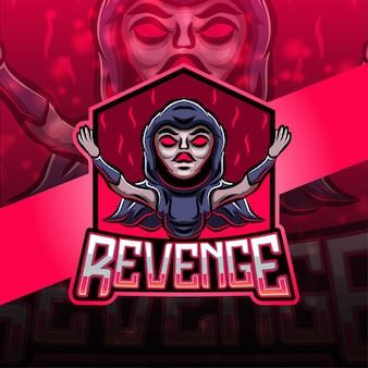 Rache esport maskottchen logo design
