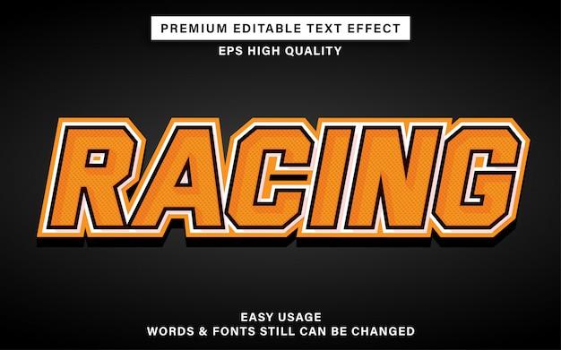 Racing bearbeitbarer textstil-effekt
