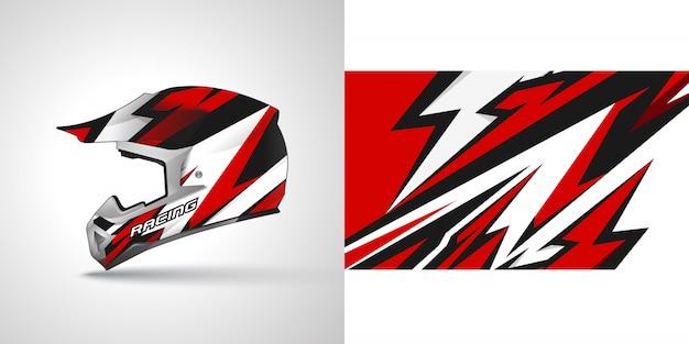 Racing helm wrap illustration