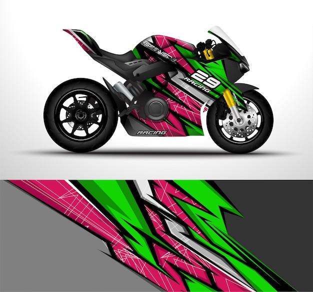 Racing motorrad sportbikes wrap decal und vinyl aufkleber design.