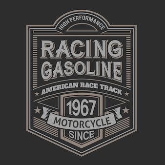 Racing vintage label