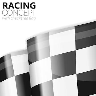 Racing zielflagge finish
