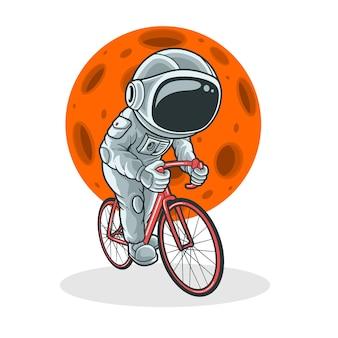 Radfahren auf dem mond