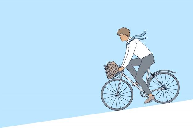 Radfahren, business, wochenende, sport, aktivitätskonzept