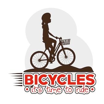Radfahren infographik design