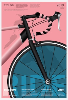 Radfahren poster illustration