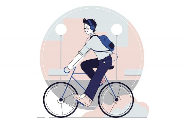 Radfahren, sport, bewegung, erholung, aktivitätskonzept