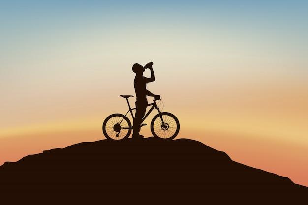Radfahrer am rande