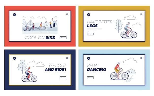 Radfahrer auf fahrrädern, die radrennen fahren