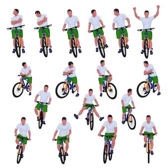 Radfahrer eingestellt