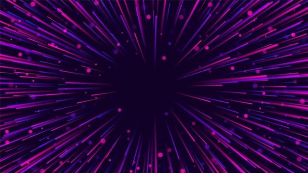 Radiale linien. explosionseffekt. abstrakter stern. vektorillustration eps10
