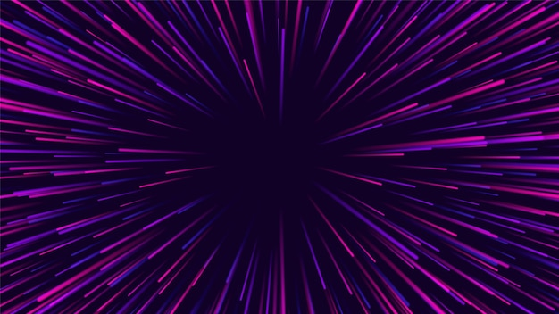 Radiale linien. hintergrund mit explosionseffekt