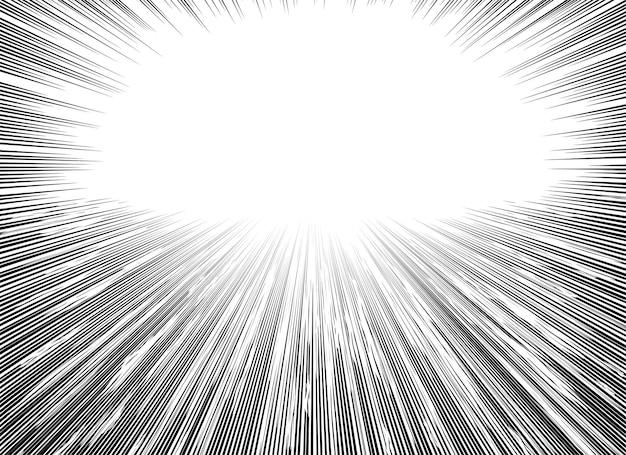 Radiale manga-geschwindigkeitslinien für comics