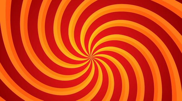 Radialer hintergrund des roten und gelben spiralwirbels