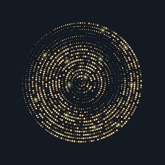 Radiales goldenes halbtonmuster