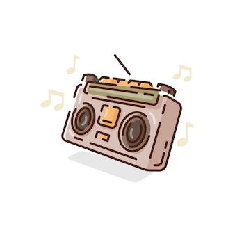 Radio clipart isoliert