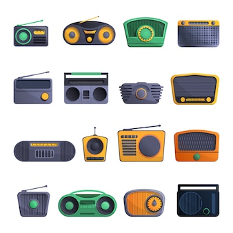 Radio-icon-set