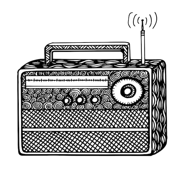 Radio-streo-vektor-illustration