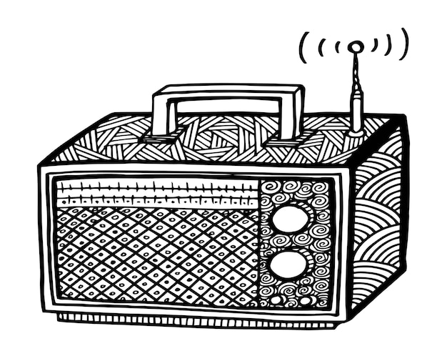 Radio-vektor-illustration