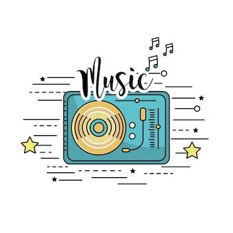 Radio zu hören und musik zu spielen