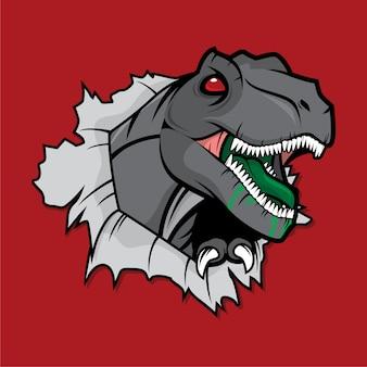 Radioaktiver tyranosaurus rex