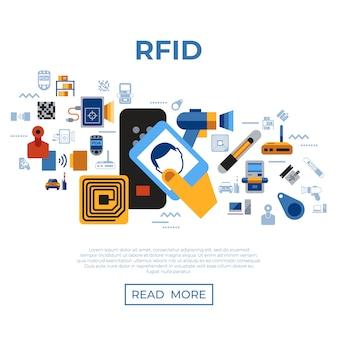 Radiofrequenzidentifikations-chip-ikonensammlung
