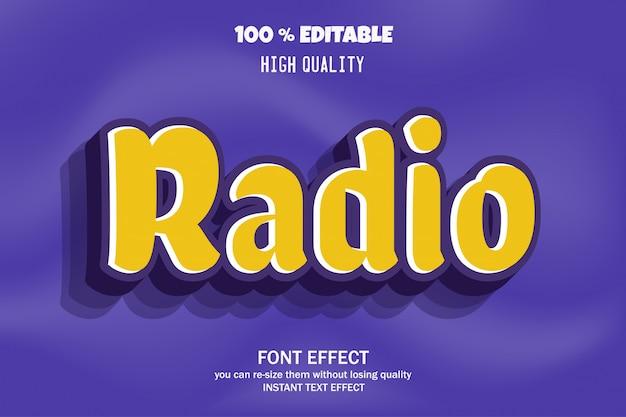 Radiotext, bearbeitbarer schrifteffekt