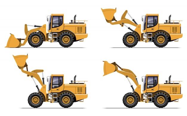 Radlader-traktor