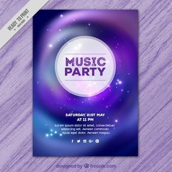 Räumliche musik-party-plakat
