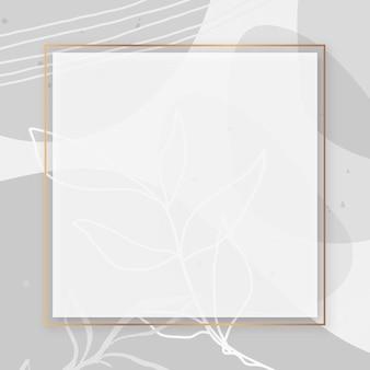 Rahmen auf memphis gemustertem hintergrund
